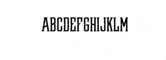 Redsniper.otf Font UPPERCASE