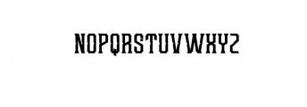 Redsniper.otf Font LOWERCASE