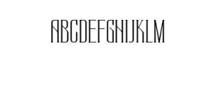 Regencia.ttf Font UPPERCASE