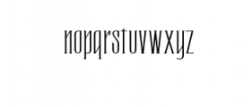 Regencia.ttf Font LOWERCASE