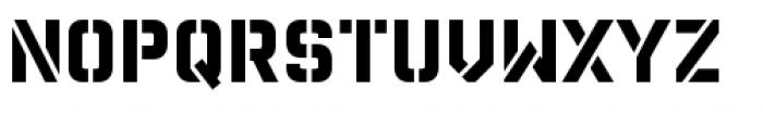 Reload Alt Stencil Medium Font UPPERCASE