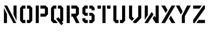 Reload Stencil Regular Font UPPERCASE