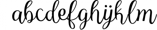 Reshuffle Script 3 Font LOWERCASE