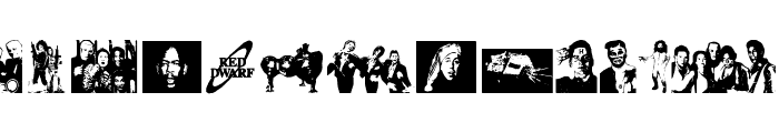 RED DWARF CHARACTERS Font UPPERCASE