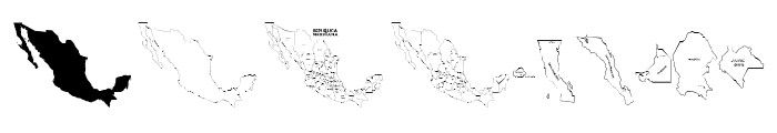 REPUBLICA MEXICANA Font OTHER CHARS