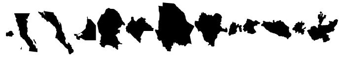 REPUBLICA MEXICANA Font LOWERCASE
