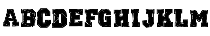 RETROHAND Font UPPERCASE