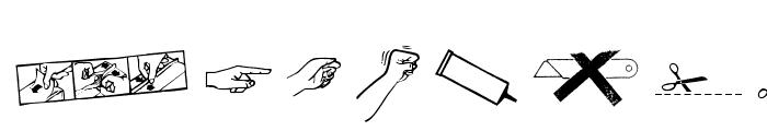 REconstructDing-Regular Font LOWERCASE