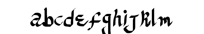 ReGifter Bold Font LOWERCASE