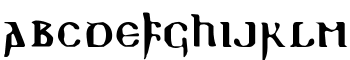 ReadableGothic Font UPPERCASE