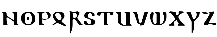 ReadableGothic Font LOWERCASE