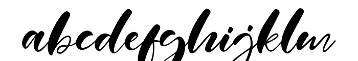 Real Miami Font LOWERCASE