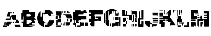 Real Tek Font UPPERCASE
