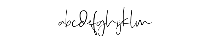 RealKindly-Bold Font LOWERCASE