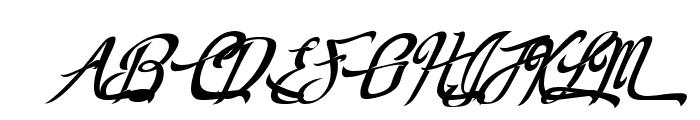 RealPrizesVeryItalic Font UPPERCASE
