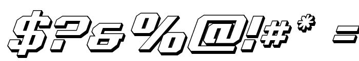 Realpolitik 3D Italic Font OTHER CHARS
