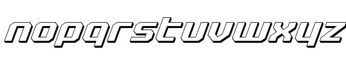 Realpolitik 3D Italic Font LOWERCASE