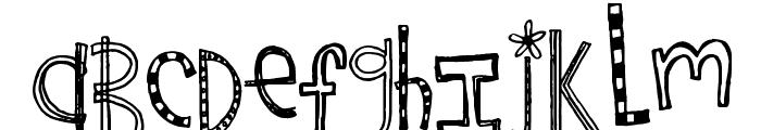 Rebekah's Birthday Font LOWERCASE