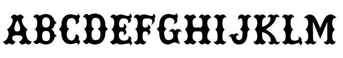 Rebel Bones Bold Font UPPERCASE