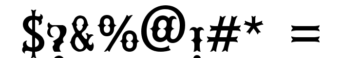 Rebel Bones Font OTHER CHARS