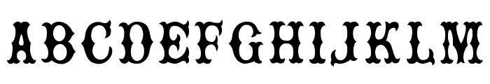 Rebel Bones Font LOWERCASE