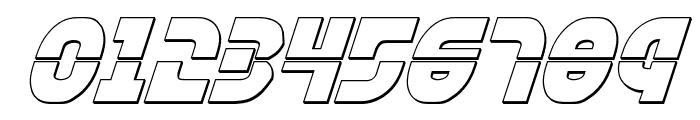 Rebel Command 3D Italic Font OTHER CHARS