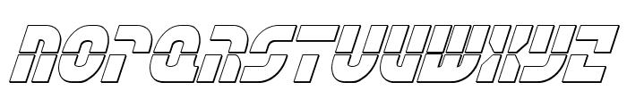 Rebel Command 3D Italic Font UPPERCASE