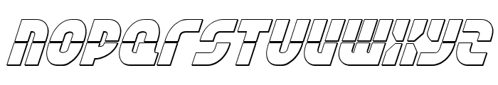 Rebel Command 3D Italic Font LOWERCASE