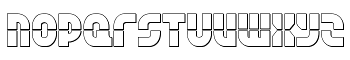 Rebel Command 3D Regular Font LOWERCASE