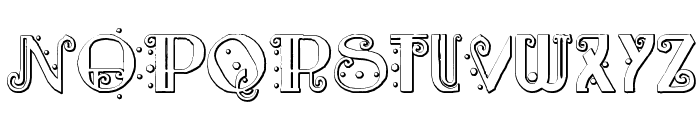 Rebimboca Beveled Font UPPERCASE