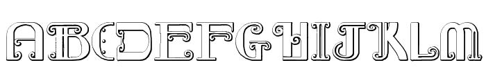 Rebimboca Beveled Font LOWERCASE