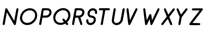 RecinosScript BoldItalic Regular Font UPPERCASE