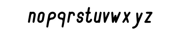 RecinosScript BoldItalic Regular Font LOWERCASE