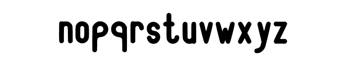 RecinosScript ExtraBold Regular Font LOWERCASE
