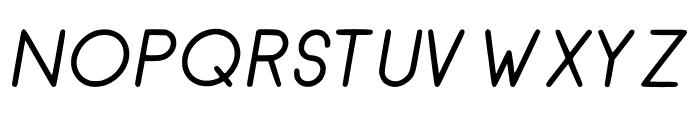 RecinosScript Italic Regular Font UPPERCASE