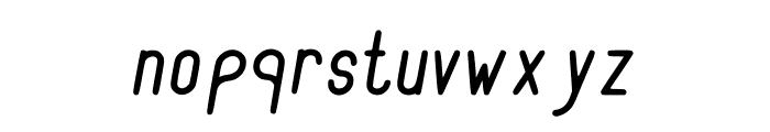 RecinosScript Italic Regular Font LOWERCASE