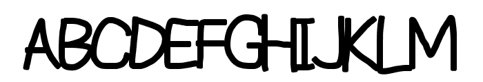 Reckless Catfish Heavy Font UPPERCASE