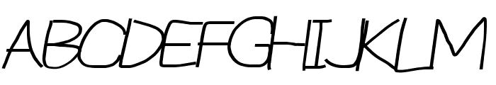 Reckless Catfish Wide Italic Font UPPERCASE