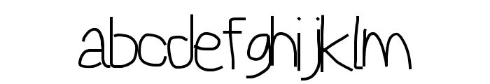 Reckless Catfish Font LOWERCASE