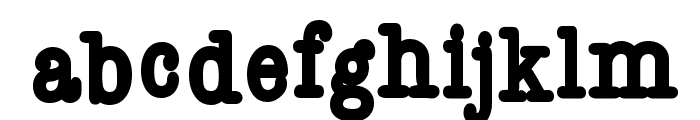 Reckless Font LOWERCASE