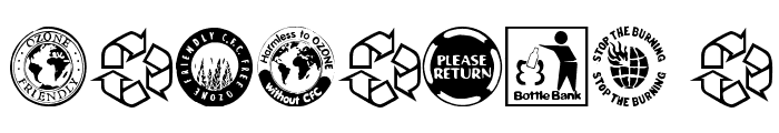 RecycleIt Font OTHER CHARS