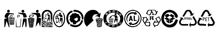 RecycleIt Font UPPERCASE