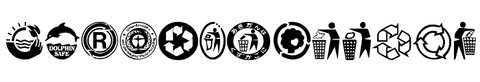RecycleIt Font LOWERCASE
