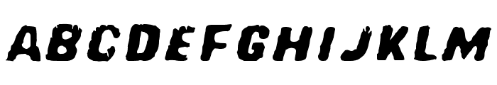 Red Comet Five to Mars Font LOWERCASE
