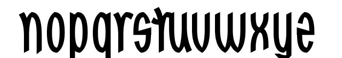 Red Dragons Font LOWERCASE