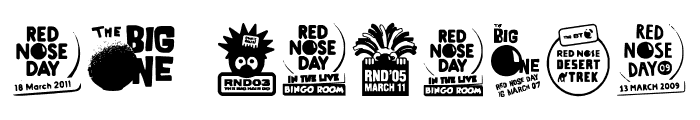 Red Nose Day Font OTHER CHARS