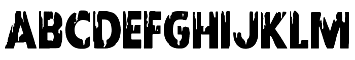 Red Undead Condensed Font UPPERCASE