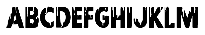 Red Undead Condensed Font LOWERCASE