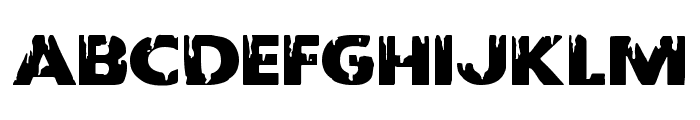 Red Undead Expanded Font UPPERCASE
