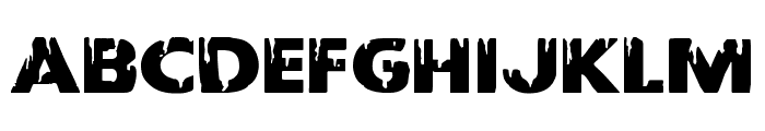 Red Undead Expanded Font LOWERCASE